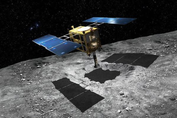 Hayabusa-2 attorno all'asteroide